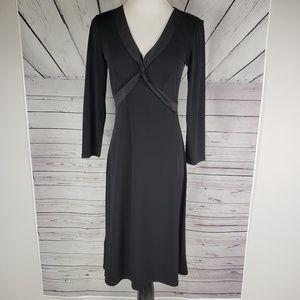 BCBG | black v-neck dress size S